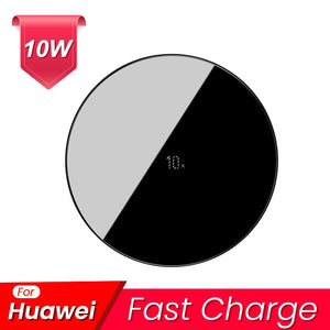 Baseus 15W Qi Wireless Charger for iPhone 11 Pro Xs Max X 8 Induction Fast Wireless Charging Pad for Samsung S20 Huawei Xiaomi 9