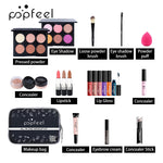 Load image into Gallery viewer, 15 20 24PCS/Set Make Up Sets Cosmetics Kit Eyeshadow Lipstick Eyebrow Pencil Lip Gloss Makeup Brush Powder Puff with Makeup Bag