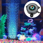 Load image into Gallery viewer, Led Aquarium Air Bubble Light Fish Tank Air Curtain Bubble Stone Disk with 6 Color Changing Leds