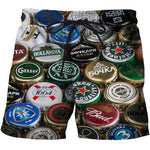 Load image into Gallery viewer, 2019 beer 3D Print Summer Beach Shorts Mascuino Streetwear Men Board Vacation Shorts Anime Short Plage Casual Quick Dry New