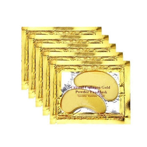 Gold Moisturizing Eye Mask Patch 60pcs=30pairs Crystal Collagen Eye Mask Anti Age Sleep Mask Dark Circles Remover Face Care Mask