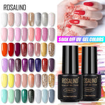 Load image into Gallery viewer, ROSALIND 7ML UV Gel Varnish Nail Polish Set For Manicure Gellak Semi Permanent Hybrid Nails Art Off Prime White gel nail polish