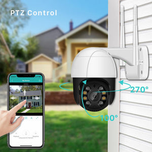1080P PTZ Wifi IP Camera Outdoor 4X Digital Zoom AI Human Detect Wireless Camera H.265 P2P ONVIF Audio 2MP Security CCTV Camera