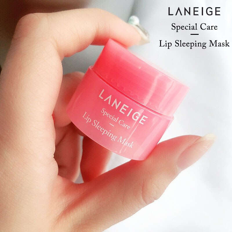 Korea lips care lip sleep mask night sleep hydrated maintenance lip balm pink lips whitening cream nourish protect 3g
