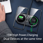 Load image into Gallery viewer, Baseus Visible Wireless Charger Wireless Chargepad for iPhone Airpods 15W Fast Charging Wireless Charge Pad QI Enabled Devices