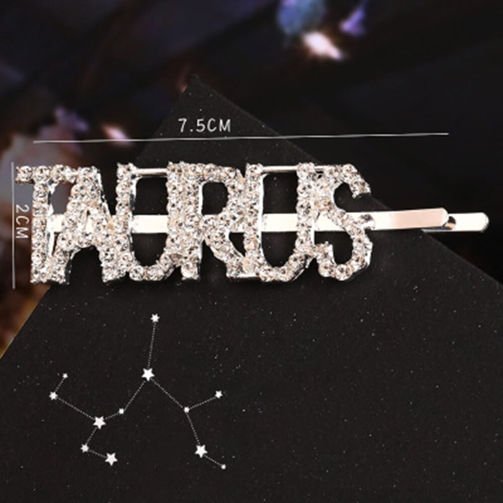 New Hairpins Crystal Shiny Rhinestones Word Letters Hair Clips Women Styling Tool Hairgrip Diamond Hair Accessories Clips Clamp