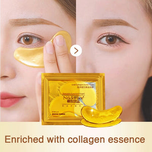 cosmetics collagen eye patches Mask skin care 24k Gold Crystal Eye Patch Colageno Gel Eye Pads eye patches mask