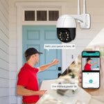 Load image into Gallery viewer, 1080P PTZ Wifi IP Camera Outdoor 4X Digital Zoom AI Human Detect Wireless Camera H.265 P2P ONVIF Audio 2MP Security CCTV Camera