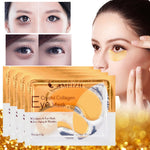Load image into Gallery viewer, 2Pcs=1Pair 24K Gold Crystal Collagen Eye Mask Eye Patches For Eye Care Dark Circles Remove Anti-Aging Wrinkle Skin Care TSLM2