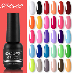 NAILWIND Nail Gel Polish UV LED Lamp Gel Varnishes painting hybrid Manicute Set for nail art Need base top coat  gel polish