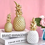 Load image into Gallery viewer, Creative Pineapple Ananas Decoration Nordic Fruit Shape Golden Pineapple Decoration Resin Black White Home Bedroom Desktop Decor