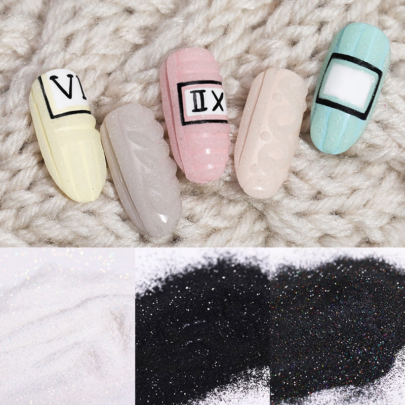 1Box Sugar Nail Powder Glitter Nail Dust Powder Laser Gradient Nail Pigment  Glitter Nail Art Decoration Accessories