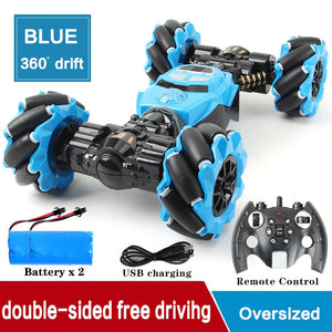 RC Car 4WD Radio Control Stunt Car Gesture Induction Twisting Off-Road Vehicle Light Music Drift Toy High Speed Climbing RC Car