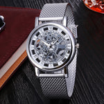 Load image into Gallery viewer, Fashion Hollow Watch Luxury Silver & Golden Steel Watches  Men Women Unisex Hombre Quartz Wrist Watch Clock Retro Relogio