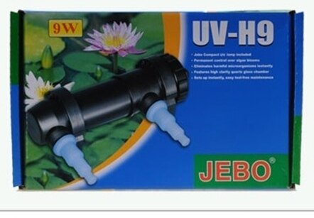 JEBO UV Sterilizer Lamp Aquarium Light Ultraviolet Filter Clarifier Water Cleaner 60~180Gallons Fish tank 5/7/9/11/13/18/24/36W