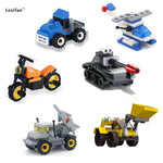 Load image into Gallery viewer, police special police car fire engine missile car plane building block truck house building block boy hand made toy