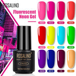 Load image into Gallery viewer, ROSALIND Neon Gel Polish varnishes Hybrid Nails For Manicure 7ML Semi Permanent Soak off Primer Base Top Coat Gel Nail Polish
