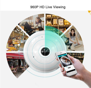360 Degree Panorama mini Video Camera Wifi IP Light Bulb Surveillance 960P Cam CCTV Motion Sensor Night Vision DV MICRO Recorder