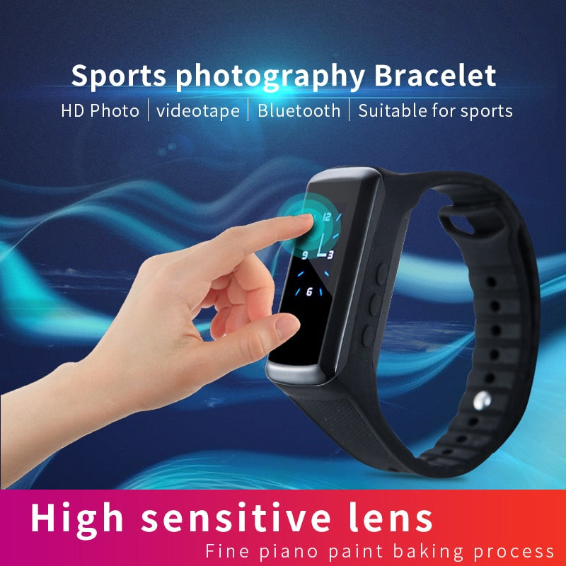 1080P Mini Camera Smart Band Camcorder Pedometer Smart Wristband Secret Camera Voice Video Recording Bracelet Watch cam