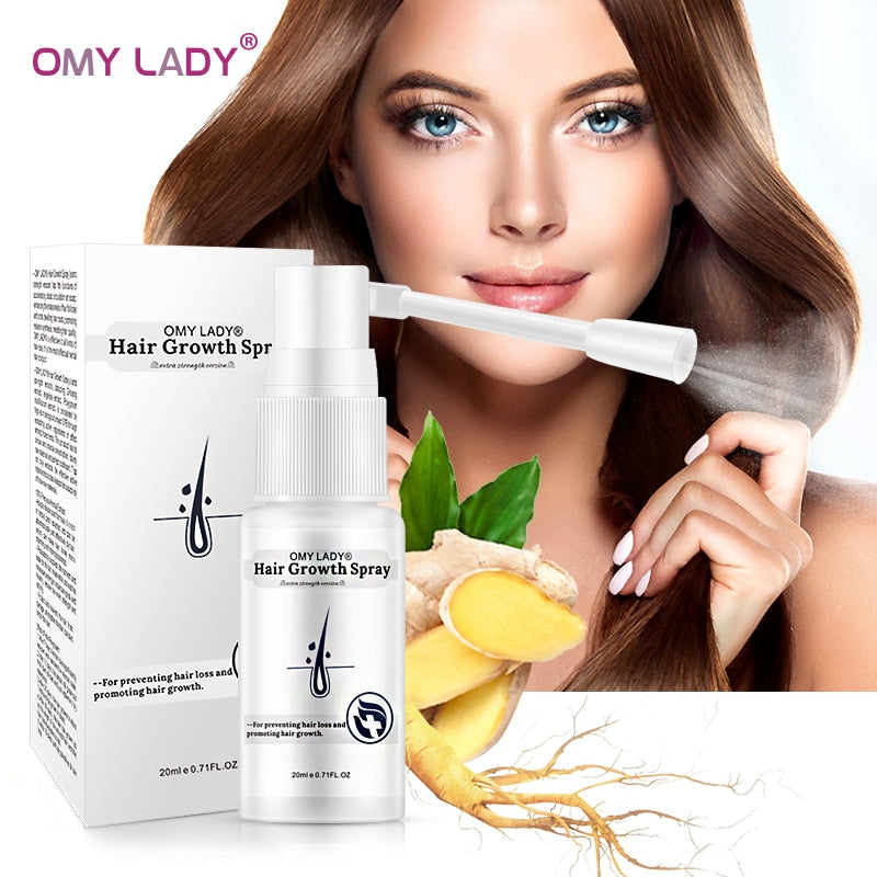 OMY LADY Anti Hair Loss Hair Growth Spray Essential Oil Liquid  For Men Women Dry Hair  Regeneration Repair,Hair Loss Products