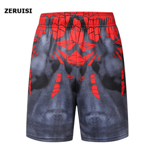 New Fashion Marvel Men Sporting Beaching Shorts Trouser Bodybuilding Sweatpants Fitness Superhero Jogger Casual Gym Men Shorts