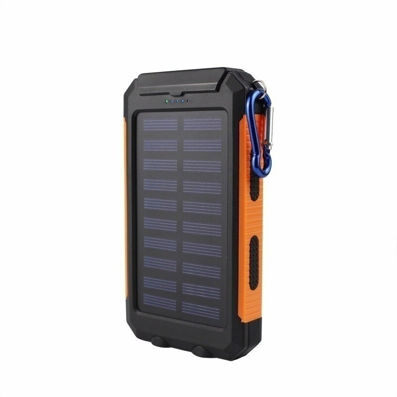 30000 mAh Waterproof Solar Power Bank Dual USB with SOS LED Charger Travel Powerbank for All Phone of All Over The World