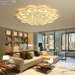 Load image into Gallery viewer, White Acrylic Modern Chandelier Lights For Living Room Bedroom remote control Led indoor Lamp Home dimmable Lighting Fixtures de