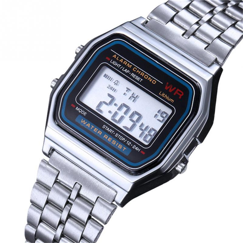 Fashionable Simple Unisex Men Women Student Electronic Movement Wristwatch Watch