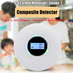 Load image into Gallery viewer, Newest 2 in 1 LED Digital Gas Smoke Alarm Co Carbon Monoxide Detector Voice Warn Sensor Home Security Protection High Sensitive