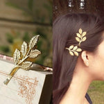 Load image into Gallery viewer, 1Pc Olive Branch Leaves Pearl Metal Hair Clip Hairband Comb Bobby Pin Barrette Hairpin Headdress Accessories Beauty Styling #001