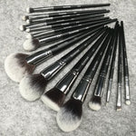 Load image into Gallery viewer, Sywinas makeup brush set 15pcs high quality black Natural synthetic hair make up brush tools kit professional makeup brushes.