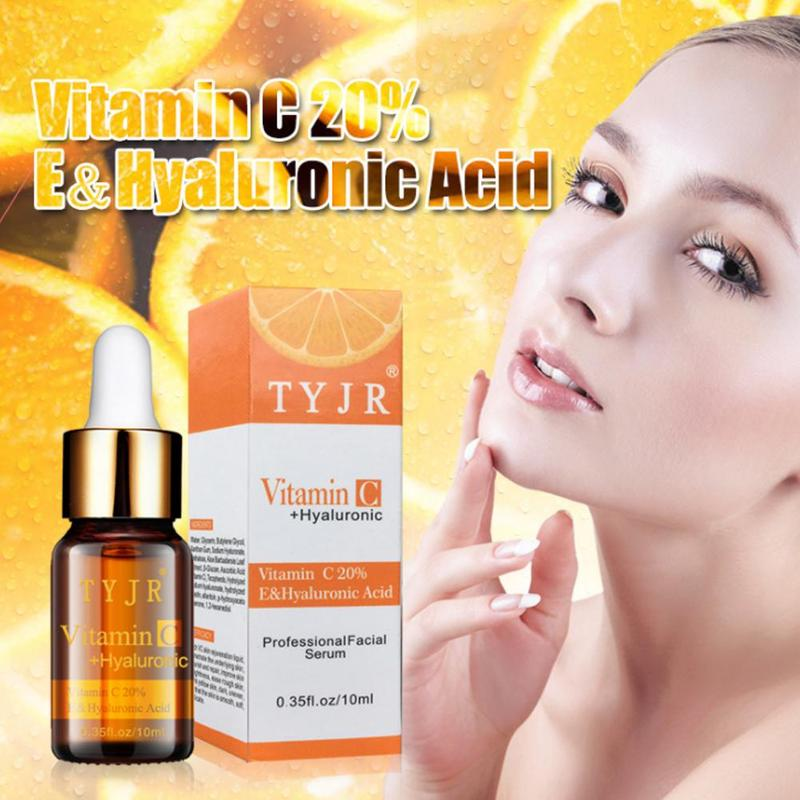 100% Pure Vitamin C Serum Liquid Freckle Removal Acne Scar Hyaluronic Acid Anti-wrinkle Vc Face Serum Oil Fade Dark Spot Essence