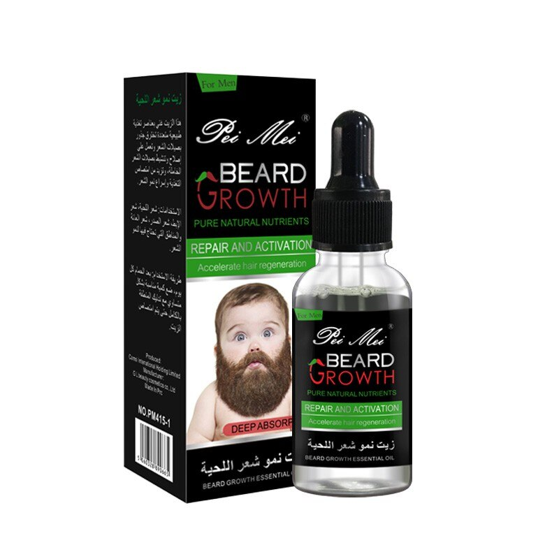 Natural Beard Growth Essential Oil Gentle Nourishing Beard Care Moustache Beard Oil