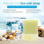 Load image into Gallery viewer, 100g Sea Salt Soap Removal Pimple Pores Acne Treatment Cleaner Moisturizing Goat Milk Face Wash Soap Base Skin Care TSLM2
