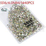 Load image into Gallery viewer, High light AAA rhinestone crystal AB clear SS3-SS40(1.3mm-8.4mm) Non Hotfix flatback Rhinestones for Nails 3D nail art  gems045