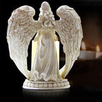Load image into Gallery viewer, Creative Resin Angel Figurines Electronic Candlestick Crafts Home Decor Angel Miniature Candle Holder Ornaments Wedding Gifts