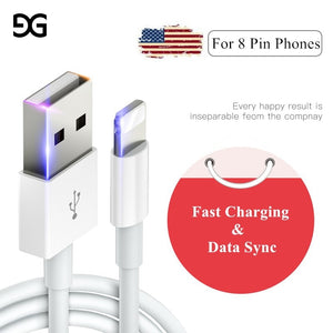 Data USB Cable for iPhone Fast Charger Charging Cable For iPhone 7 8 Plus X XS Max XR 5 5S SE 6 6S Plus Charger Wire For iPad