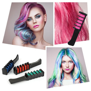 Professional Mini 6 Colors Hair Dye Comb Disposable Hair Dye Comb Crayons Use For Personal Salon Temporary Styling Tool TSLM2