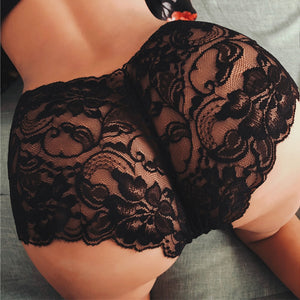 1PC New Sexy Low-Rise Women Bandage Lace Printing Transparent  Panties G-string Thongs Bikini Briefs Knickers Seamless Underwear