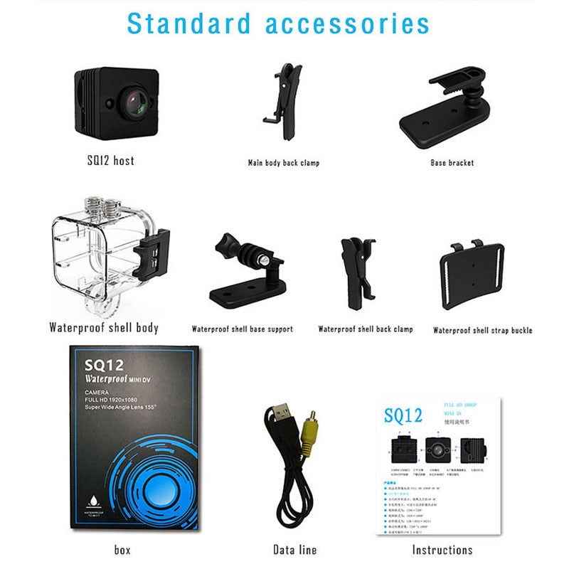 Original Camara SQ13 SQ23 Mini Camera SQ12 SQ11 HD 1080P 480P Night Vision Video Recorder Micro Cam Support Hidden TF Card