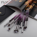 Load image into Gallery viewer, FLD 10Pcs Eye Brush Mini Diamond Makeup Brush Set Eye Shadow Lip Eyebrow Brushes High Quality Professional Lip Eyeliner Tools