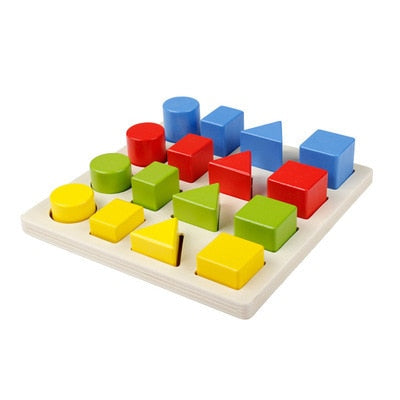 Children's educational toys exercise math memory logical body coordination four-color fruit game chess montessori wooden toys