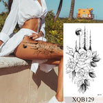 Load image into Gallery viewer, Waterproof Temporary Tattoo Sticker Flower Rose Flash Tattoos Lalash Tattoos Snake Lion Body Art Arm Fake Sleeve Tatoo Women