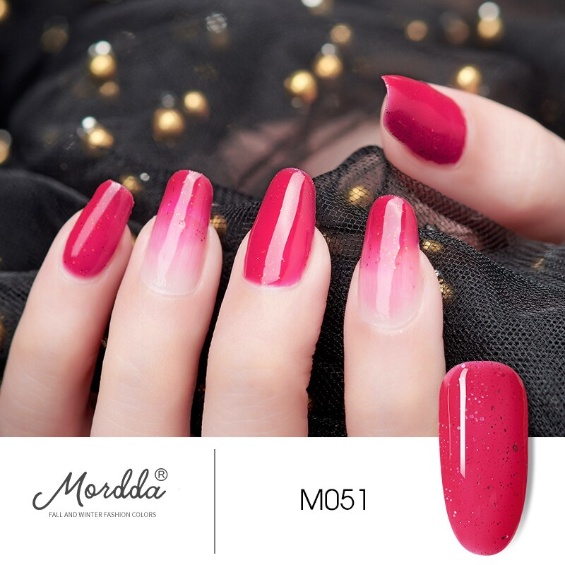 MORDDA 8 ML Gel Nail Polish Gel Varnish Semi Permanent UV LED Gel Nail Lacquer Soak Off Hybrid Gel Painting Need Matte Top Coat