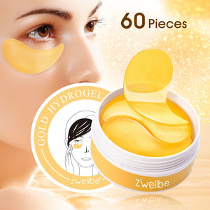 60pcs Gold Collagen Eye Mask Remove Dark Circles Whitening Essence Eye Patches Firming Sleep Mask Moisturizing Eyes Skin Care