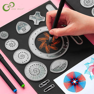 Spirograph Drawing Toys Set Interlocking Gears Wheels Painting Drawing Accessories Creative Educational Toy Spirographs GYH