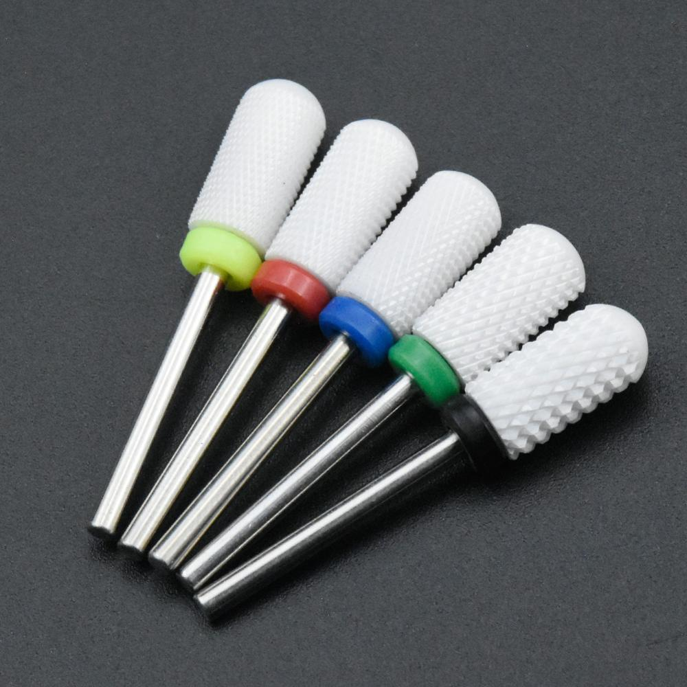 Timistory Ceramic Nail Drill Bit Electric Nail Milling Cutter for Manicure Pedicure Nail Art Accessoires Tool Remove Nail Polish
