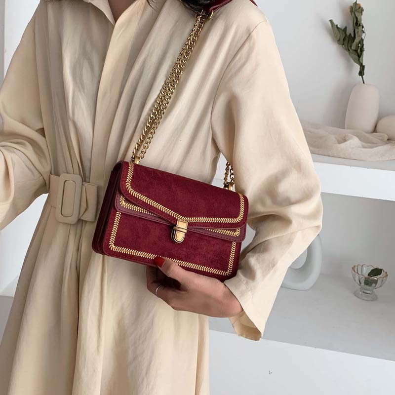 Scrub Leather Crossbody Bags For Women 2020 Chain Shoulder Simple Bag Lady Travel Luxury Handbags and Purses