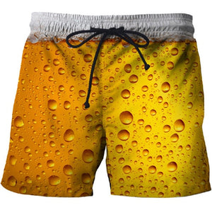 2019 beer 3D Print Summer Beach Shorts Mascuino Streetwear Men Board Vacation Shorts Anime Short Plage Casual Quick Dry New