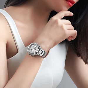 2020 New Fashion Female Business ladies watch Full Steel Luxury Ladies Wristwatches TOP Quality Brand Design Women Watches 3ATM